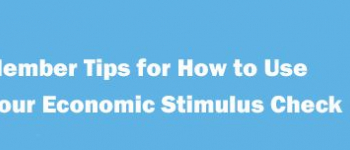 Economic Stimulus Check Tips