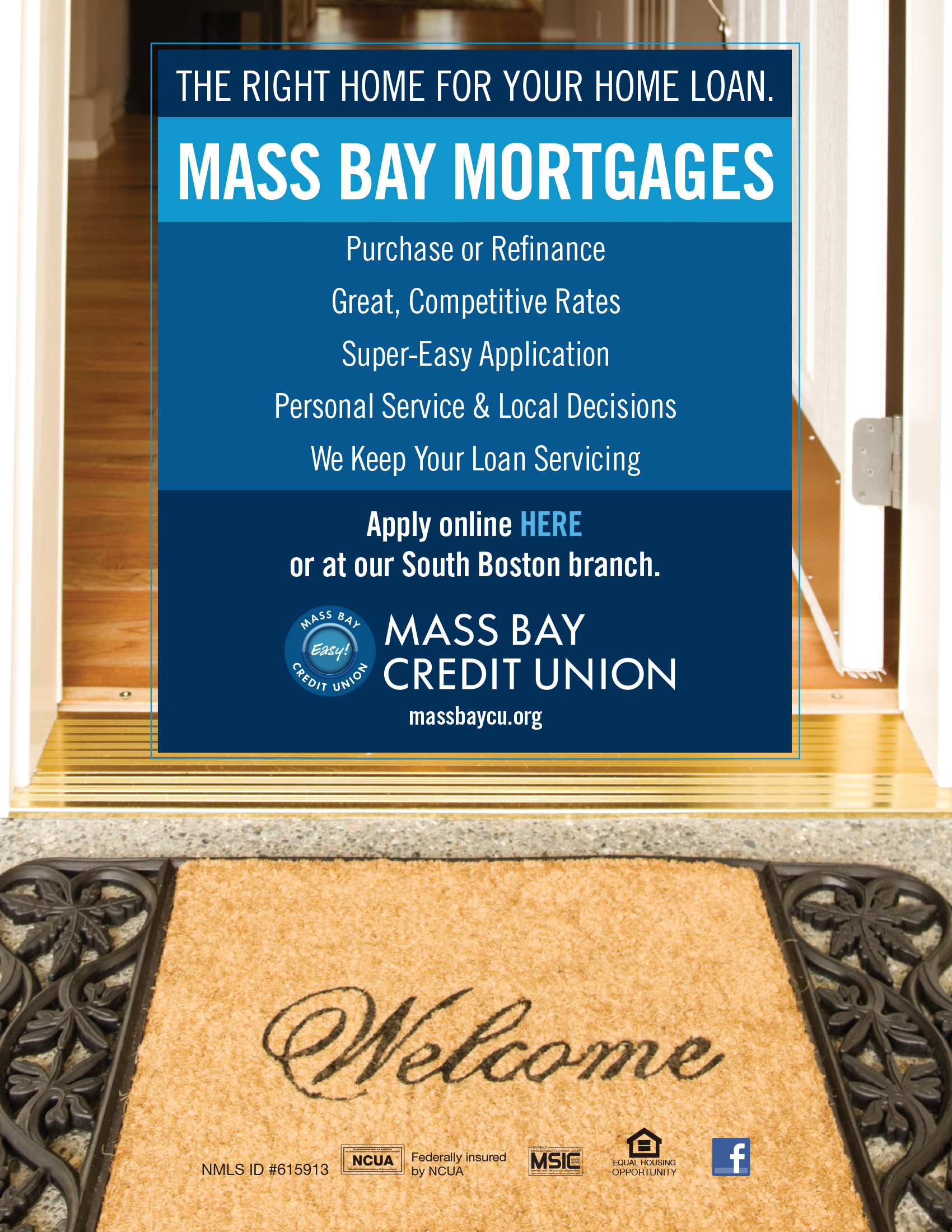Easy mortgages with Mass Bay, purchase or refinance